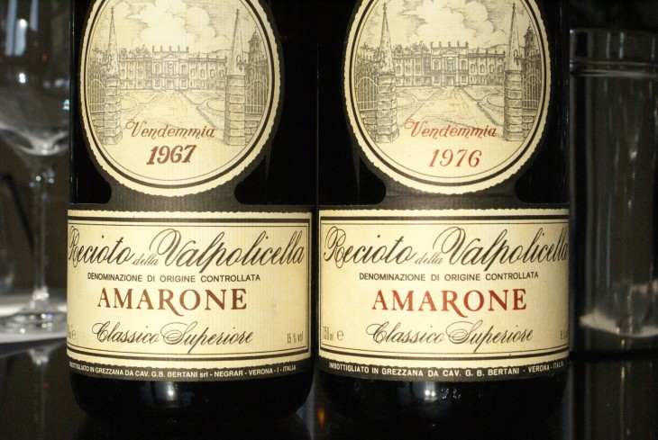 Bertani Amarone 1976 and 1967