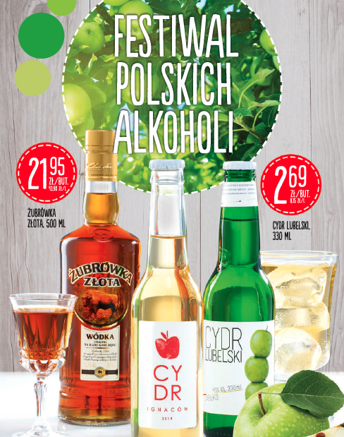 Wydarzenie miesiąca czyli polskie cydry w Biedronce.