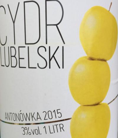 Cydr Lubelski Antonówka 2015