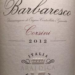 Araldica Barbaresco Corsini 2012