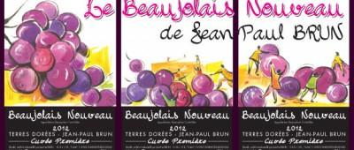 Jean Paul Brun terres-dorees-beaujolais-nouveau-label 2012