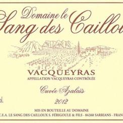 Domaine Le Sang des Cailloux Vacqueyras Azalaïs 2012 ikona