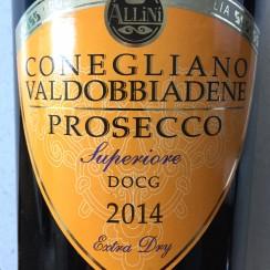 Allini Prosecco Superiore Extra dry 2014.