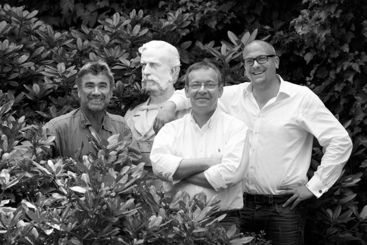 Agronom Werner Sebastian, enolog Mathieu Kauffmann i dyrektor Richard Grosche. © Reichsrat von Buhl.