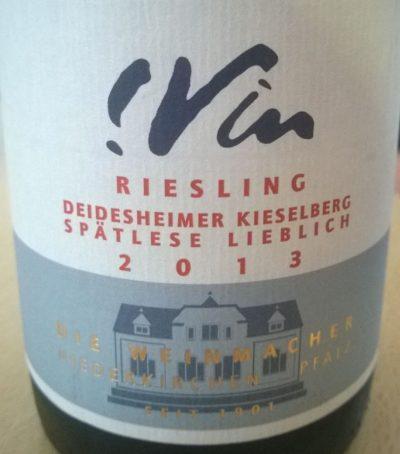 Die Weinmacher Deidesheimer Kieselberg Riesling Spätlese lieblich 2013