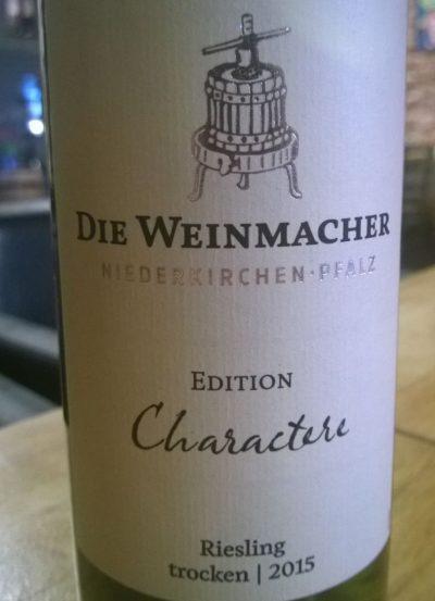 Die Weinmacher Edition Caractere Riesling trocken 2015