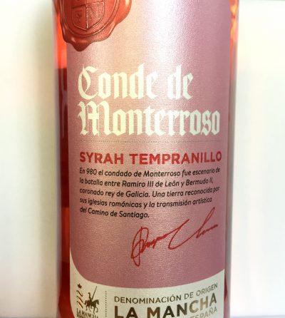 Isidro Milagro La Mancha Conde de Monterroso Syrah–Tempranillo