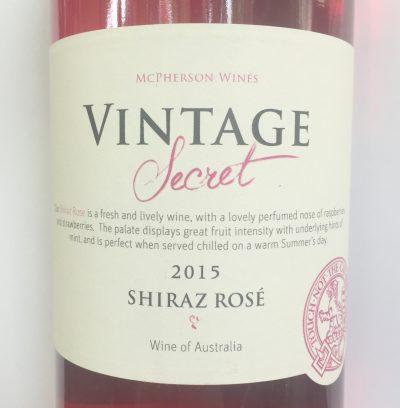 McPherson Wines Australia Vintage Secret Shiraz Rosé