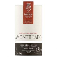 Tesco Finest Amontillado Sherry label