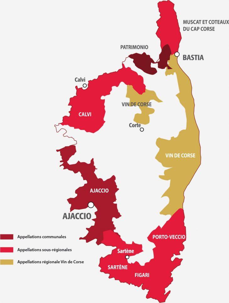Apelacje winiarskie Korsyki
