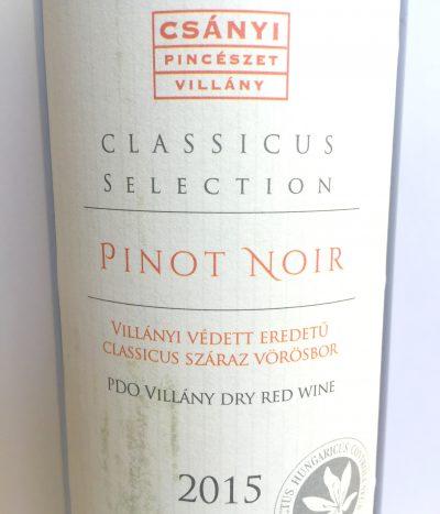 Csányi Villányi Pinot Noir Classicus Selection 2015