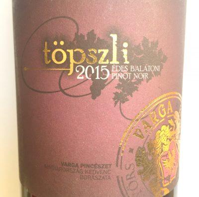 Varga Balatoni Pinot Noir Töpszli sweet 2015