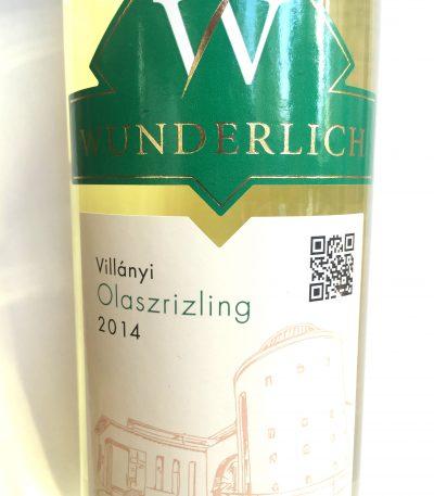 Wunderlich Villányi Olaszrizling 2014