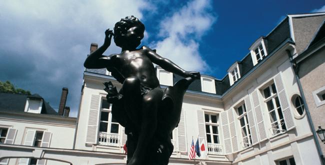 Amour de Deutz bierze swoją nazwę od posążka Amora na dziedzińcu posiadłości. © Le Figaro.
