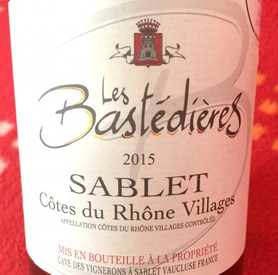 Cave des Vignerons de Sablet Côtes du Rhône-Villages Sablet Blanc Les Bastédières 2015