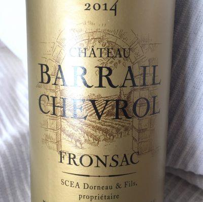 Château Barrail Chevrol Fronsac 2014