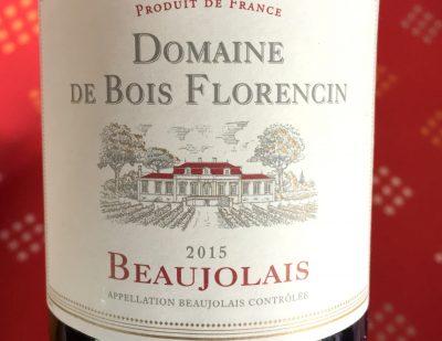 Domaine de Bois Florencin Beaujolais 2015