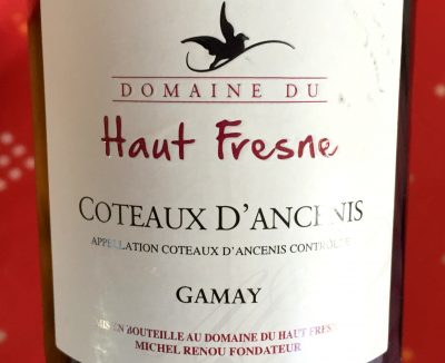 Domaine du Haut Fresne Coteaux d'Ancenis Gamay 2015