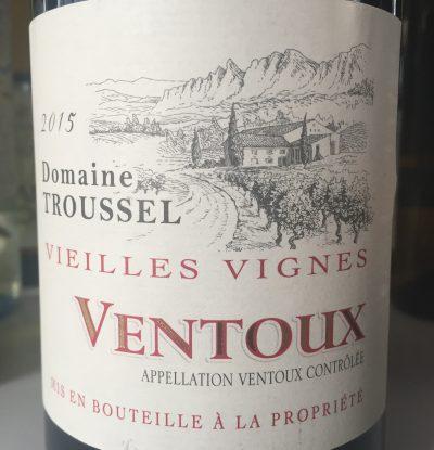 Domaine Troussel Ventoux Vieilles Vignes 2015