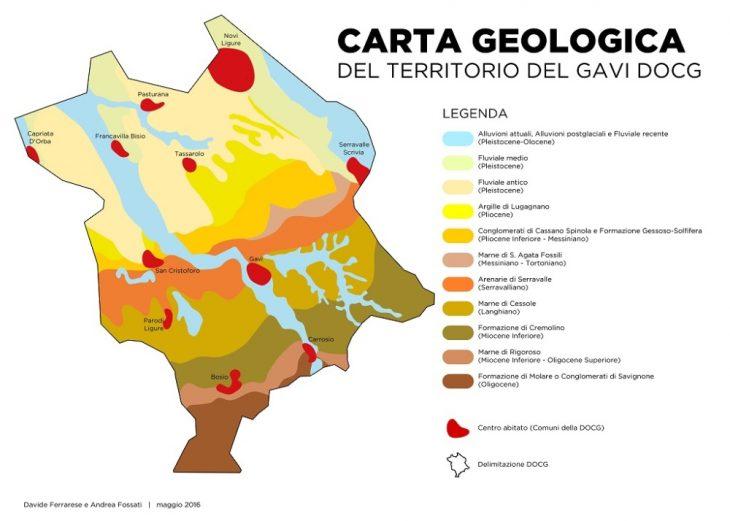 Mapa winnic w Gavi. © Consorzio del Gavi.