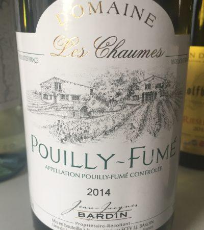 Jean-Jacques Bardin : Domaine Les Chaumes Pouilly-Fumé 2014