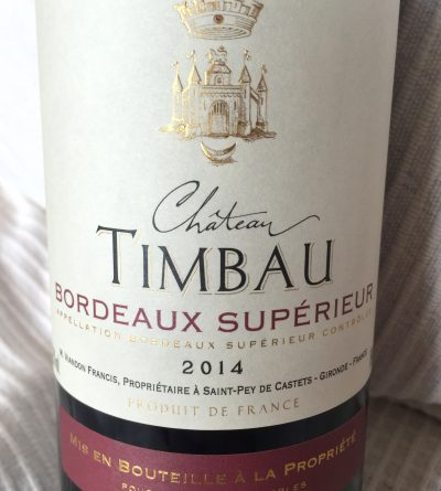 Les Chais de Vaure Bordeaux Supérieur Château Timbau 2014