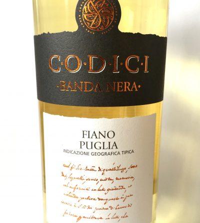 MGM Mondo del Vino Puglia Codici Banda Nera Fiano