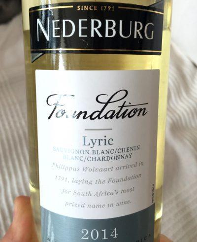 Nederburg Western Cape Foundation Lyric 2014