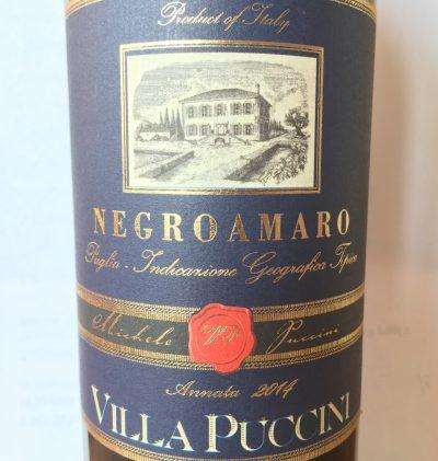 Villa Puccini Puglia Negroamaro 2014