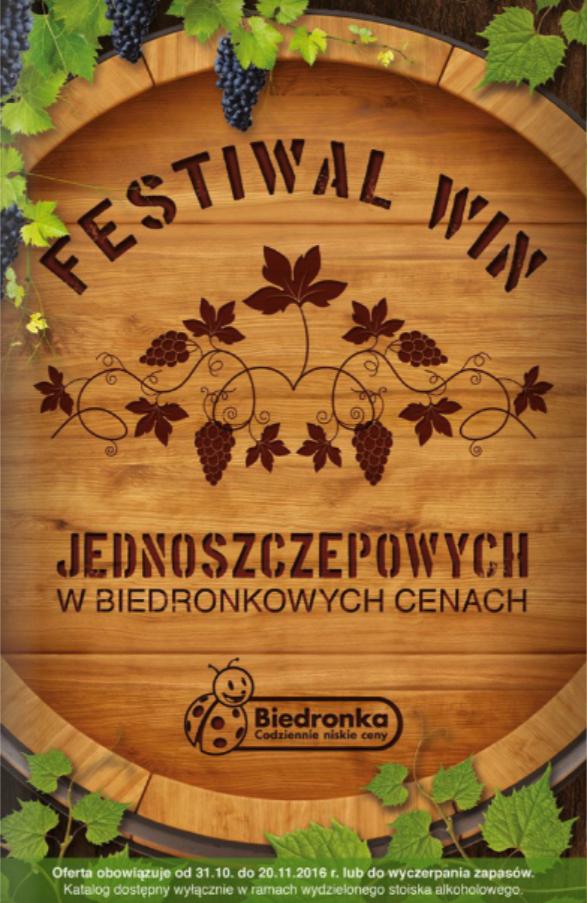 Biedronka – Festiwal win jednoszczepowych okładka