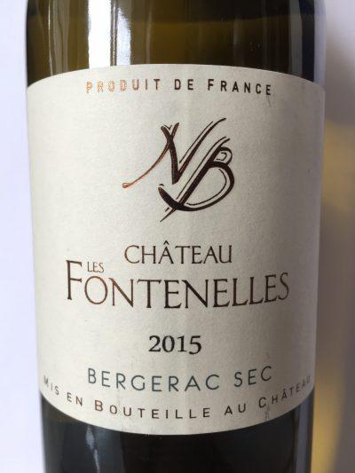 Château Les Fontenelles Bergerac Sec 2015