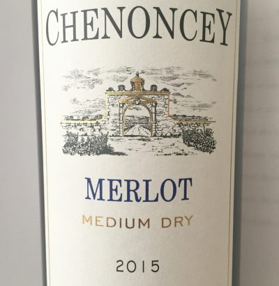 Chenoncey Merlot medium dry 2015