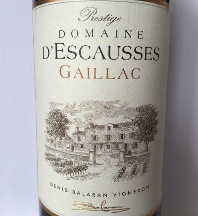 Domaine d'Escausses Gaillac Prestige 2015