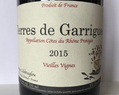 Georges Lelektsoglou Côtes du Rhône Terres de Garrigues 2015