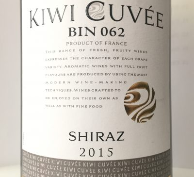Lacheteau Kiwi Cuvée Shiraz Bin 062 2015