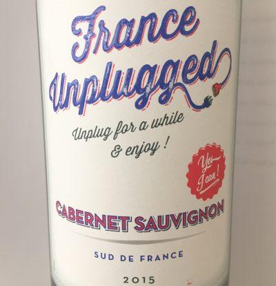 Les Vins du Littoral France Unplugged Cabernet Sauvignon 2015