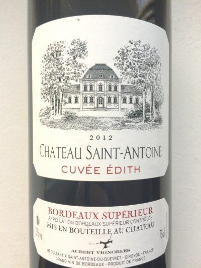 Château Saint-Antoine Bordeaux Supérieur Cuvée Édith 2012